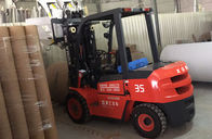 3.5 Ton Diesel Forklift Truck 6m Lifting Height LED Lighting For Power Consumption