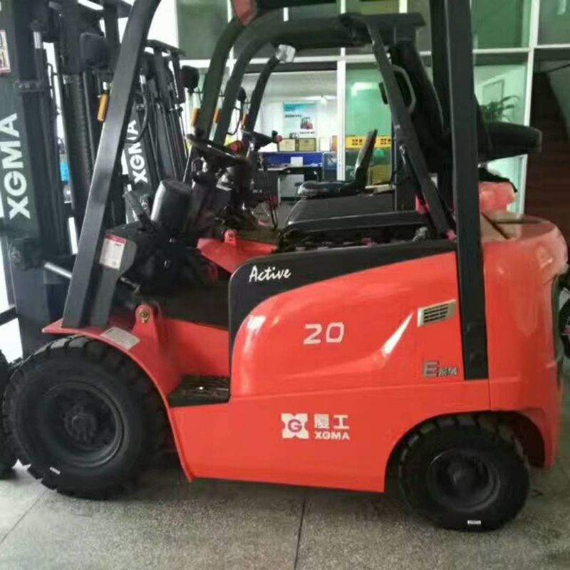 Electric AC Motor Battery Powered Forklift 2 Ton Capacity Safety Design